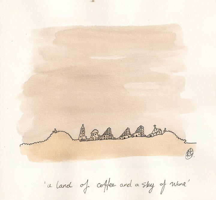 Land of coffee sky of wine - Bruco Designs