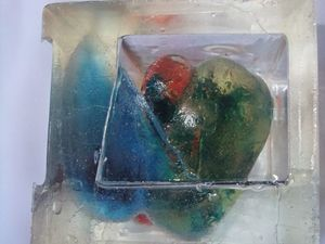 pepper in cube ( resin art , epoxy )