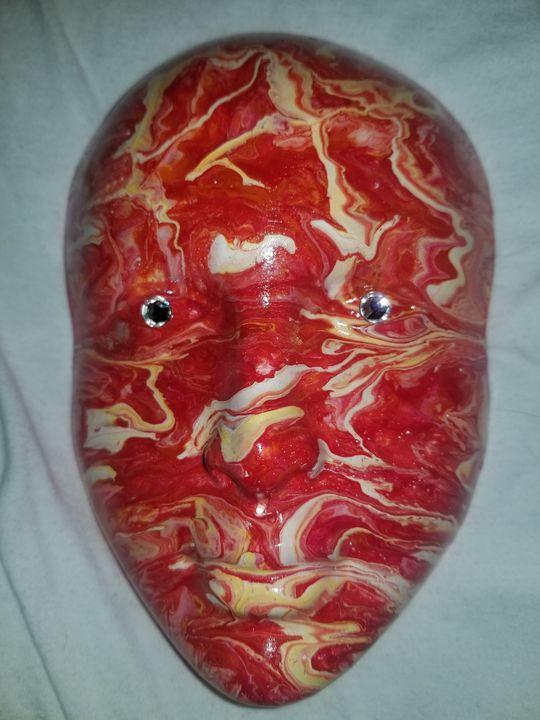 dripped painted mask - MarasWorld Inc.