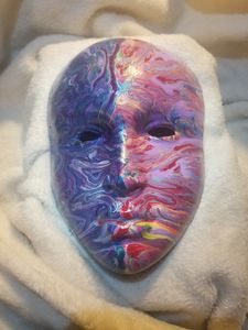 dripped mask painting