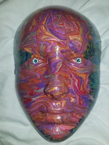 dripped painting mask
