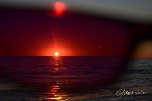 Sunglasses and Sunset
