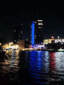 Grand Rapids Michigan Night Skyline
