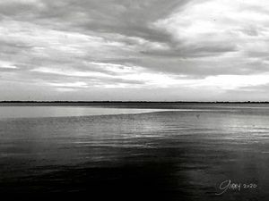 Black and White Michigan Great Lakes