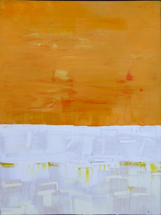 Orange White And White - fearnfineart