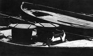 black and white boats