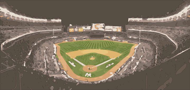 Yankee Stadium Digital Painting - Art in Sports