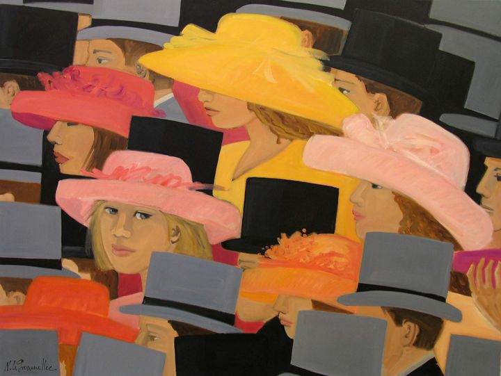 Oil on Canvas Nicole Le Groumellec - Nicole Le Groumellec