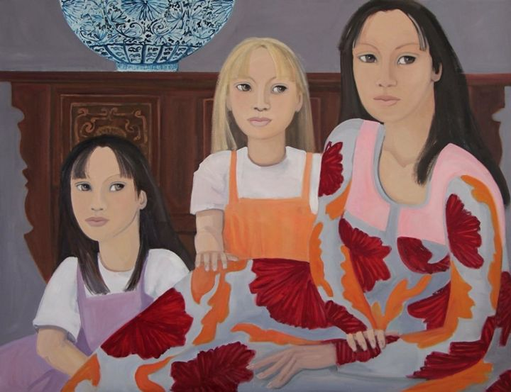 Oil on Canvas Nicole Le Groumellec - Nicole Le Groumellec