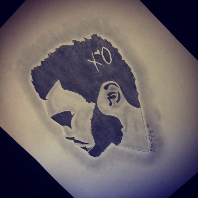 The Weeknd Side Silhouette - DeAunte Printup