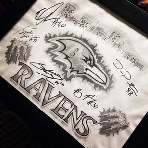 Signed Ravens Drawing