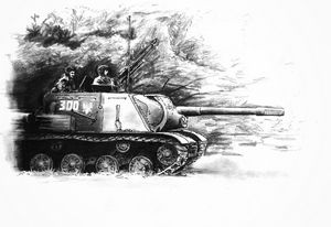 The advance on Berlin. An ISU-152.