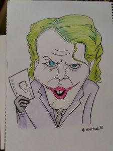 The joker caricature