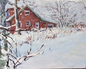 """Cabin in Winter"""