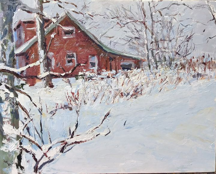 """""""Cabin in Winter"""" - Meredith Wood"""
