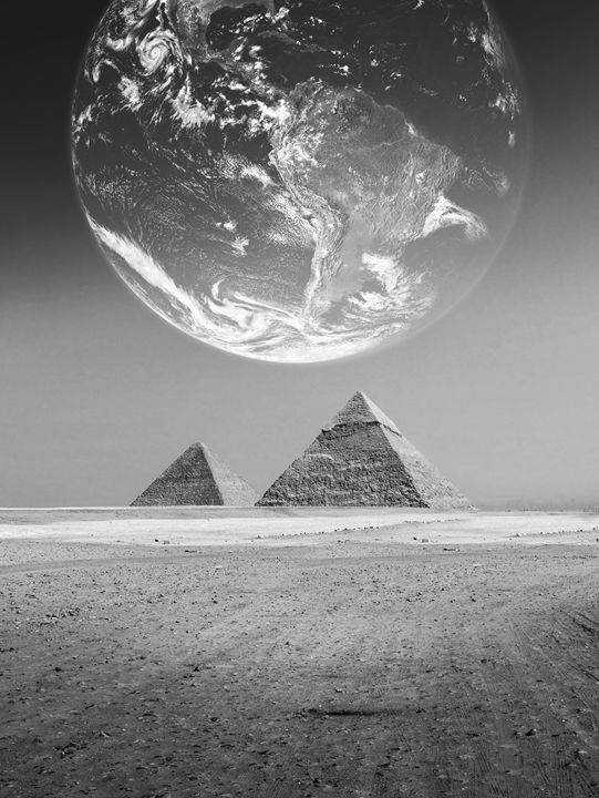 The Earth with pyramids ,Elements fu - Photography