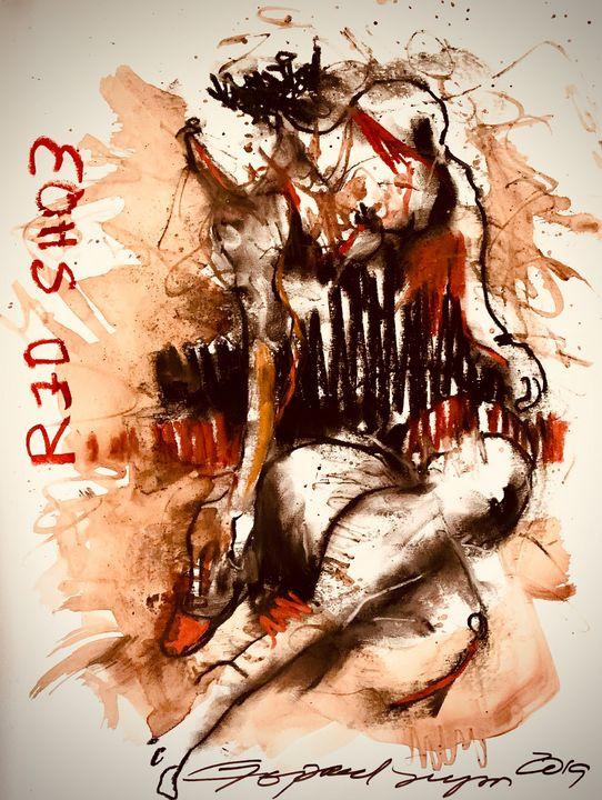 Red Shoe - RedBlue Arts