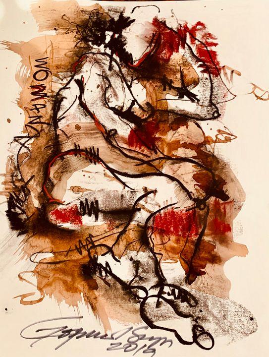 Woman - RedBlue Arts