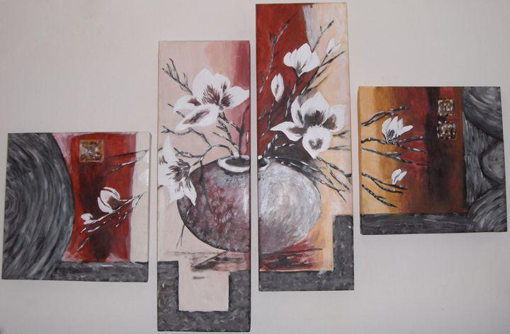 creative flowers in a vase - art