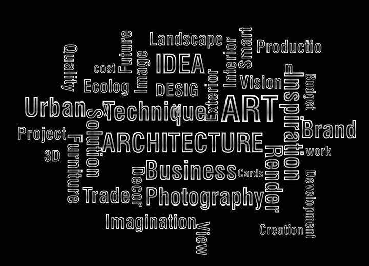 text design - art