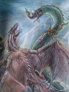 Naga & Dragon fighting