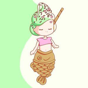 Taiyaki Ice Cream Mermaid