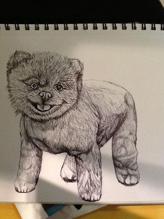 Boo dog - Animal art
