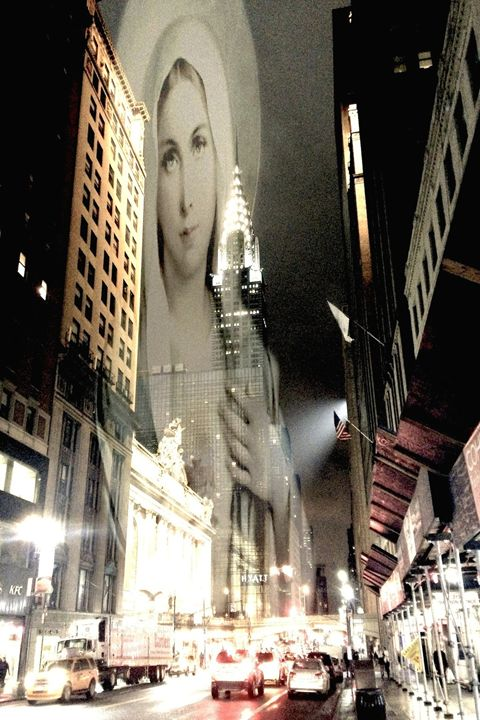 Mary Holds The Chrysler Building - Cusi