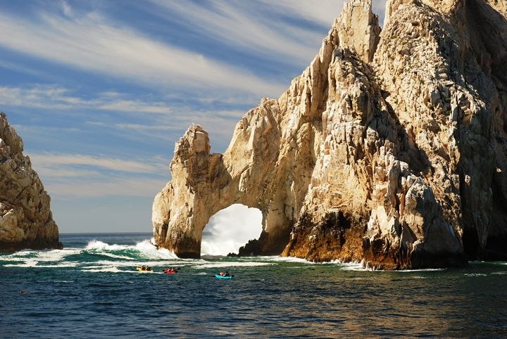 Kayaking at Cabo's Arch - Photography by Brian Florky