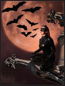 Cat Woman (Beware of Bats) - DunJon Fantasy Art
