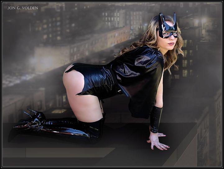 Bat Girl (On The Edge) - DunJon Fantasy Art