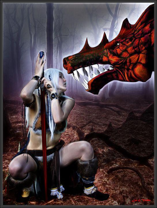 Dragon Whisperer - DunJon Fantasy Art