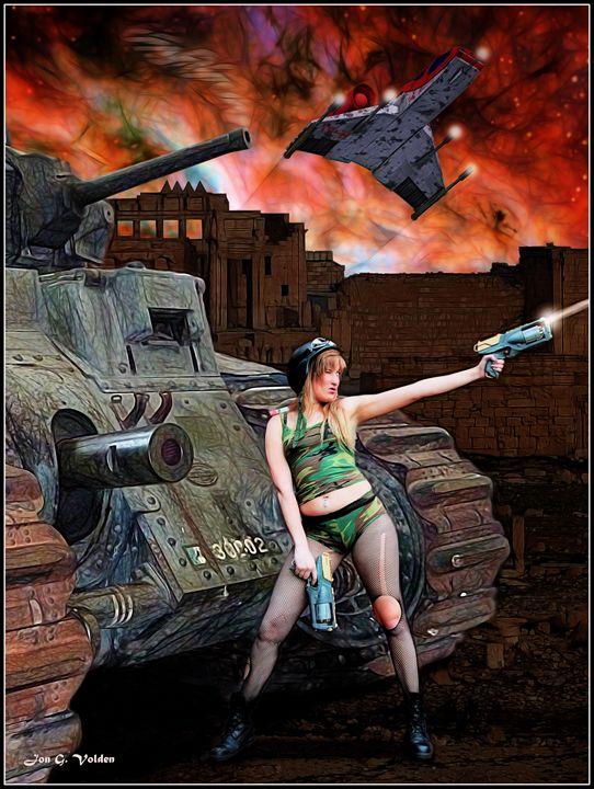 Tank Girl vs Mega Corp - DunJon Fantasy Art