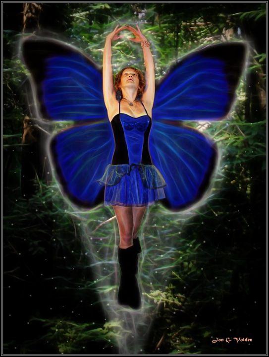 Soaring Blue Fairy - DunJon Fantasy Art