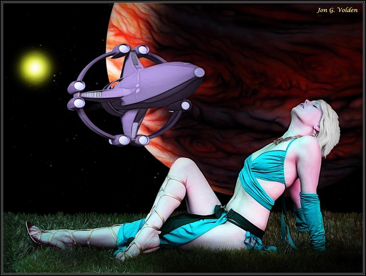 A Scifi Moment - DunJon Fantasy Art