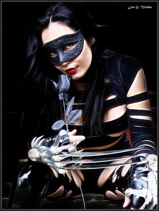 Black Rose Steel Claws - DunJon Fantasy Art