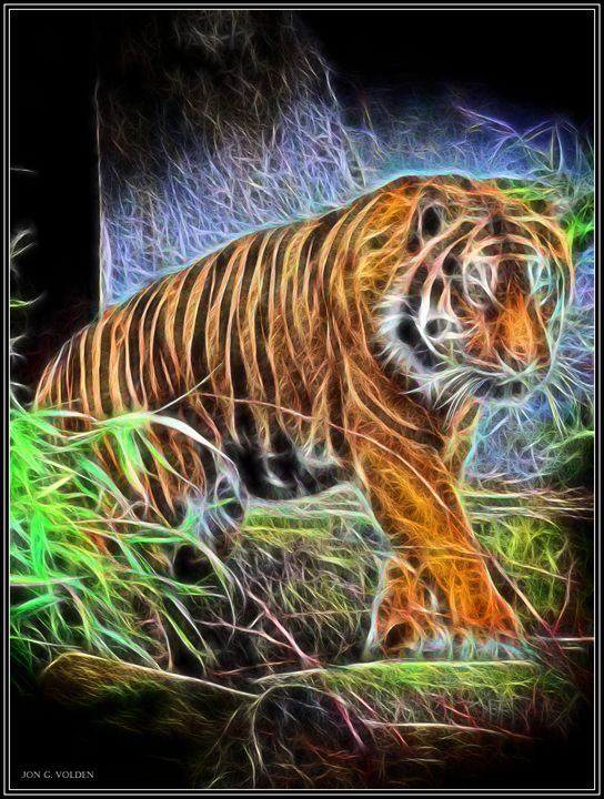 Tiger Spirit - DunJon Fantasy Art