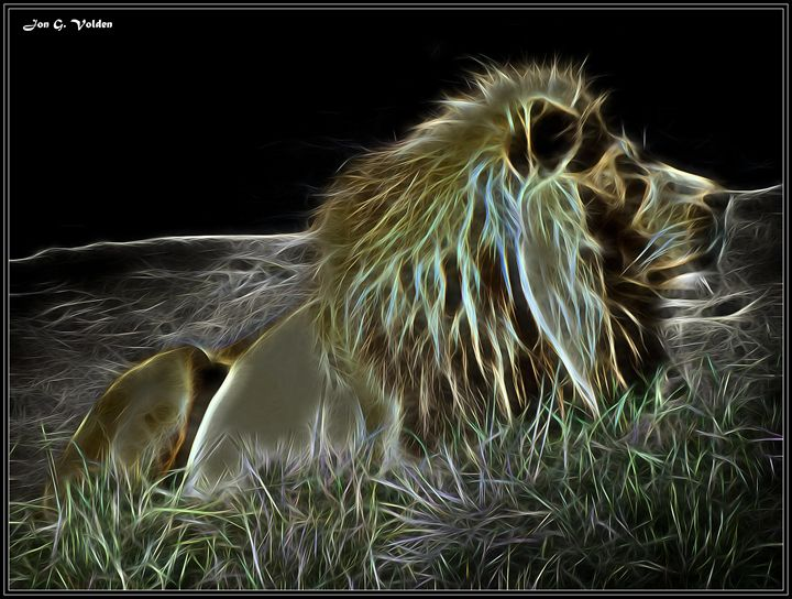 Mystic Impression  Of A Lion - DunJon Fantasy Art