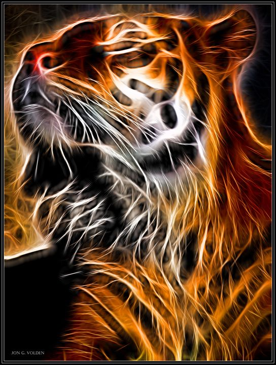 A Glowing Tiger - DunJon Fantasy Art