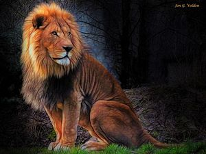 The Lion Sits Alone