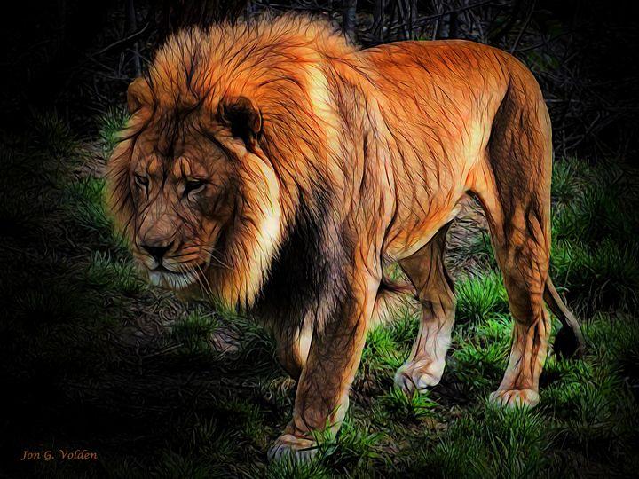 Impression Of A Sad Lion - DunJon Fantasy Art