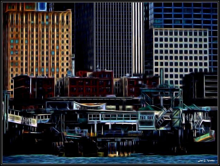 Seattle Dock - DunJon Fantasy Art