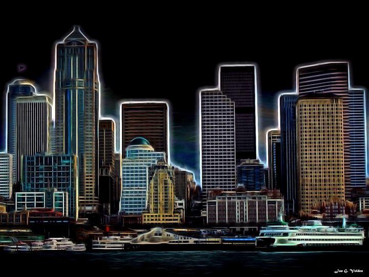 Seattle Shoreline - DunJon Fantasy Art