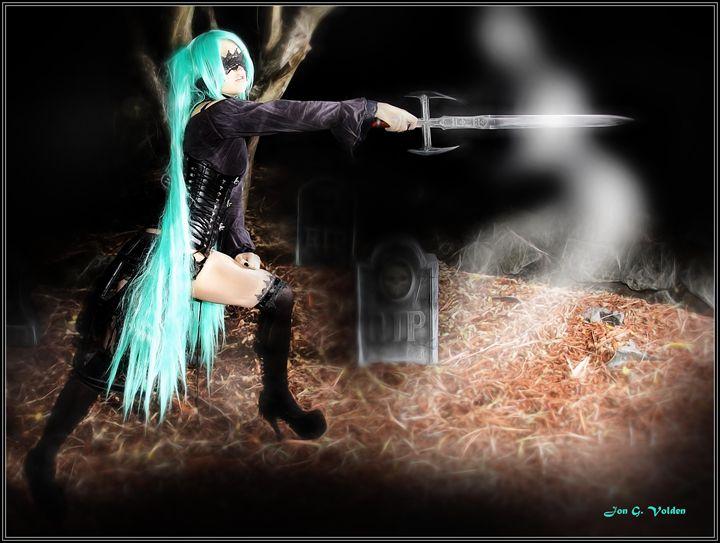 Battle With An Unseen Spirit - DunJon Fantasy Art