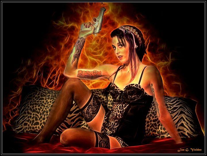A Hot Date - DunJon Fantasy Art