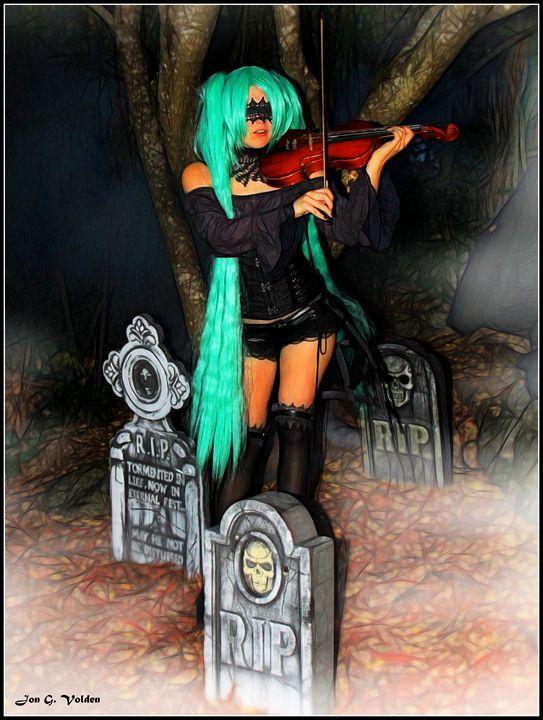 Playing For The Dead - DunJon Fantasy Art