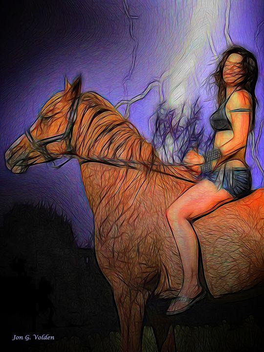 Storm Rider - DunJon Fantasy Art