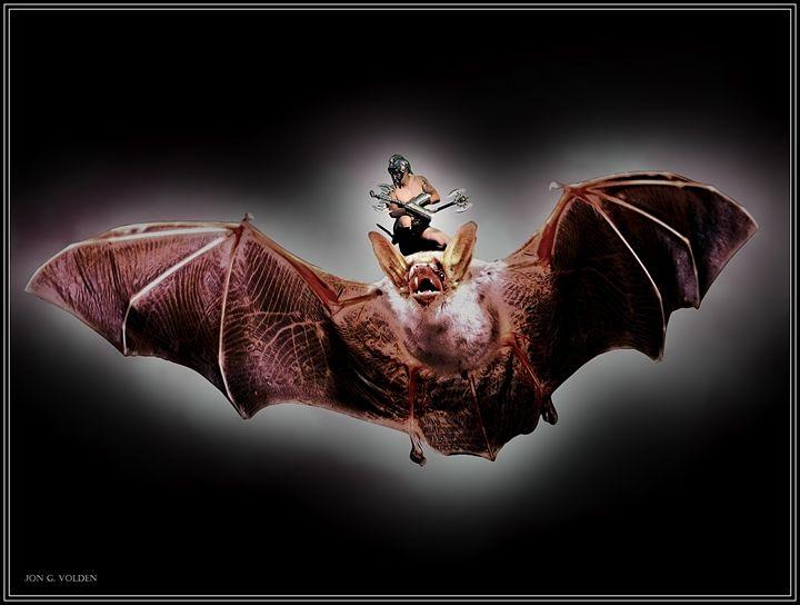 Dire Bat Gladiator - DunJon Fantasy Art
