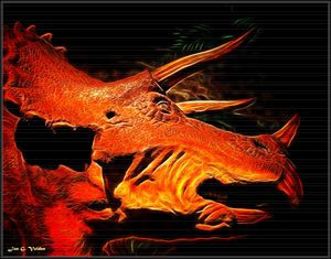 Portrait of A Triceratops - DunJon Fantasy Art