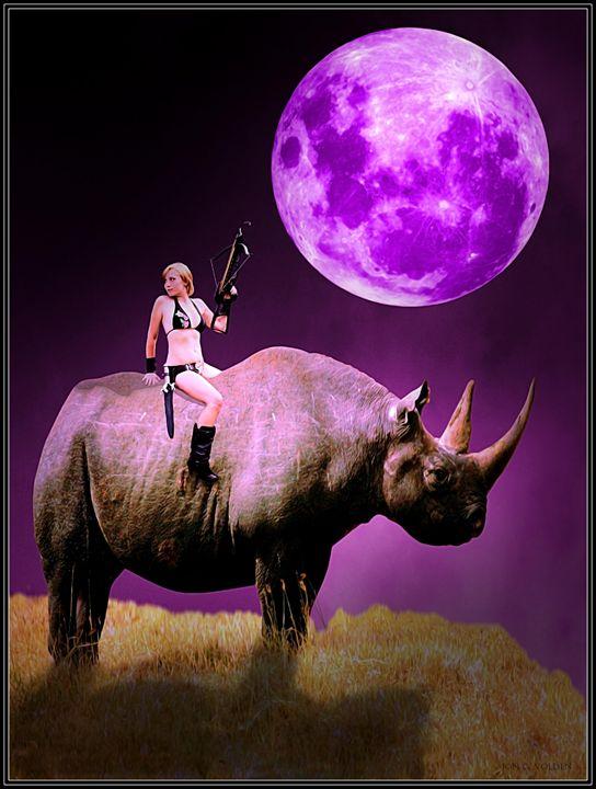 Rhino Rider - DunJon Fantasy Art